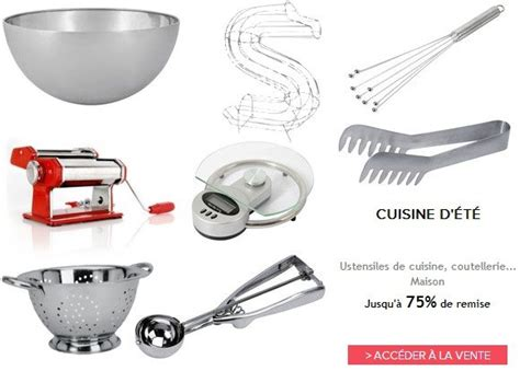 vente privee cuisine vente privée d accessoires de cuisine monsieur mode