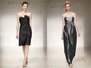 Bridesmaids39 dresses by amsale black cocktail dress and for Winter wedding cocktail dresses