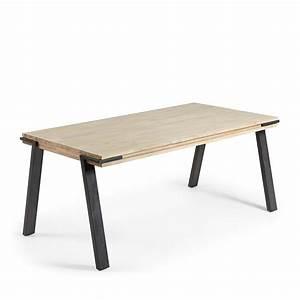 Table Bois Massif Design : table manger design industriel bois massif et m tal spike by drawer ~ Teatrodelosmanantiales.com Idées de Décoration