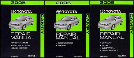 car service manuals pdf 2005 toyota camry instrument cluster 2005 toyota camry repair shop manual original set