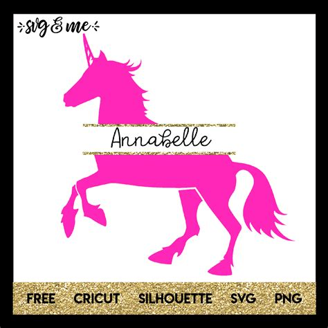 The unicorns are so adorable, thank you so much for sharing! Unicorn Split Monogram - SVG & Me