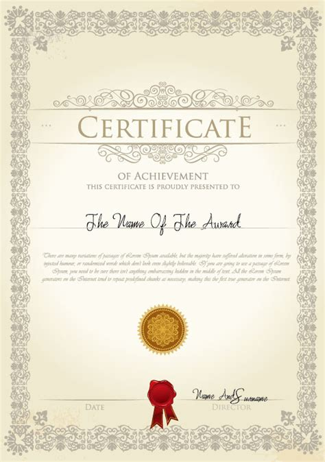 certificate templates psd   images