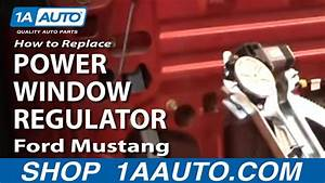 How To Replace Window Regulator 94-04 Ford Mustang
