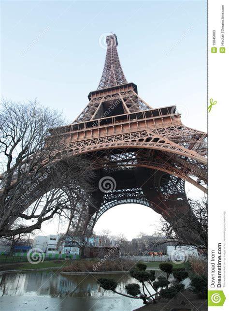 eiffel tower  bottom stock  image