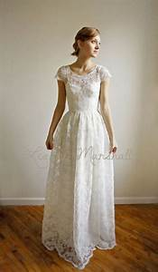 ellie long 2 piece lace and cotton wedding dress price With cotton wedding dress