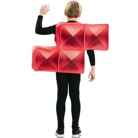 Disfraz Tetris Rojo para Niños【Envío en 24h】