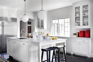 ask a designer improving the kitchen in small or big With kitchen colors with white cabinets with houston astros stickers