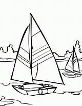 Coloring Sailboat Sailing Sail Printable Adult Colouring Walks Jesus Template Clipart sketch template