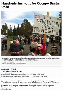 "Press Democrat: ""Hundreds Turn Out for Occupy Santa Rosa ..."