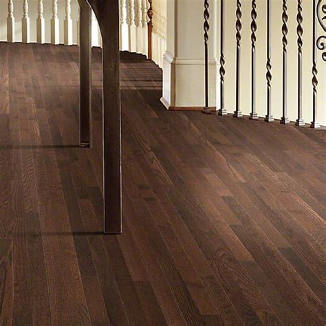 """Can also be used to transition a wood floor to different. Shaw Floors Bellingham 2-1/4"""" Solid White Oak Hardwood Flooring in Coffee Bean   AllModern"""