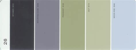martha stewart paint 5 color palette card 26 thelandofcolor