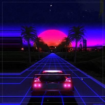 Retro Sunset Vaporwave Outrun Amazing Neon Aesthetic