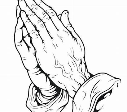 Hands Jesus Praying Drawing Coloring Getdrawings