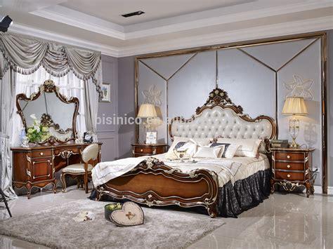 chambre à coucher bois massif eau style luxe antique lit mobilier de chambre de luxe