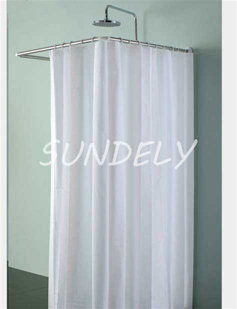 New Fabric Bathroom Shower Curtain White Extra Long And
