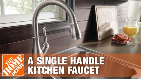delta faucets   install  single handle kitchen