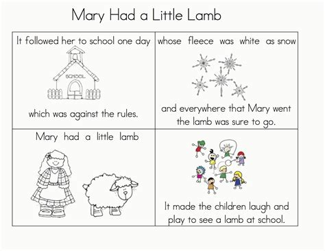 Mary Had A Little Lamb Coloring Page407369