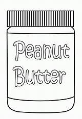Coloring Peanut Butter Pages Peanuts Sheets Clipart Cartoon Jar Library Line Food Popular sketch template