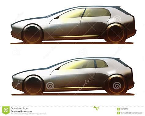 Car Body 5-door Hatchback And 3-door Hatchback Stock