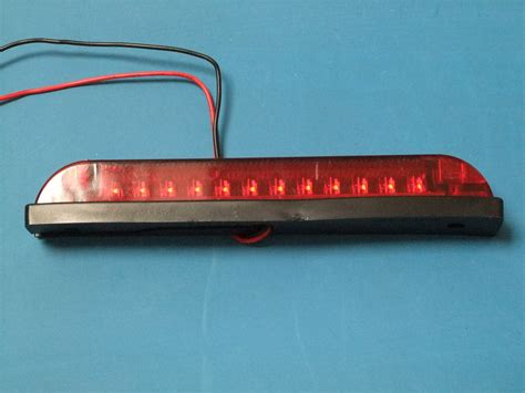 red led light strip led 6 quot strip light waterproof red lens red leds 12v