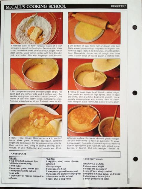Cooking School Recipes by 53 Best Mccall S Cooking School Missing Recipe Pages