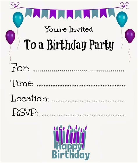 Microsoft Word Birthday Card Template Choice Image Birthday Invitation Templates Birthday Invitation