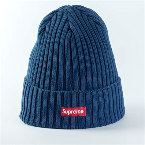 Supreme Beanie by Supreme Overdyed Ribbed Beanie Navy Navy Caps Beanies