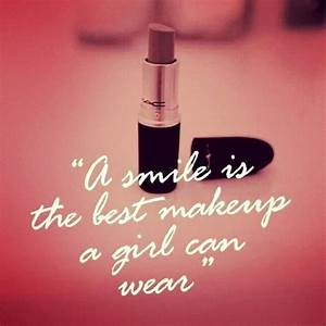 Small Daily Mot... Lipstick And Smile Quotes