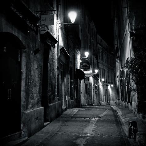 dark street montpellier france   nicolas