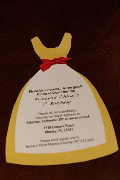 beauty  beast themed invitations quinceanera
