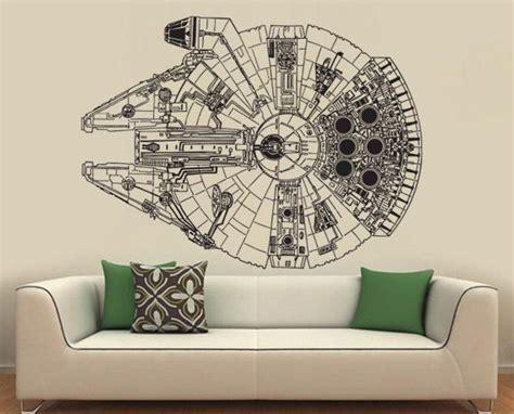 Star Wars Millennium Falcon Vinyl Wall Art For Hayley's