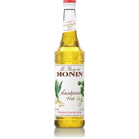 monin macadamia nut syrup  ml bottle baristaproshopcom