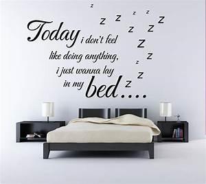 Bruno mars lazy song music lyrics quote bedroom wall art