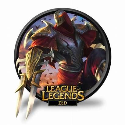 Zed Icon League Legends Unofficial Icons Transparent