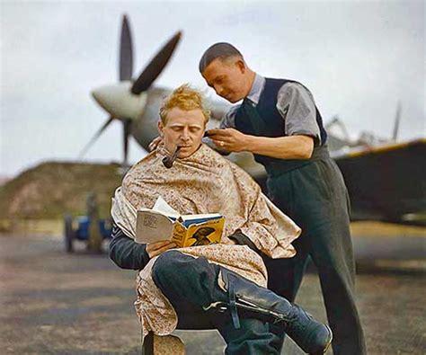 raf pilot   haircut   break