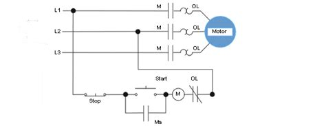 wire control start stop circuit