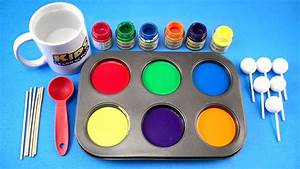 How To Make Frozen Paint For Kids  Colors For Children To