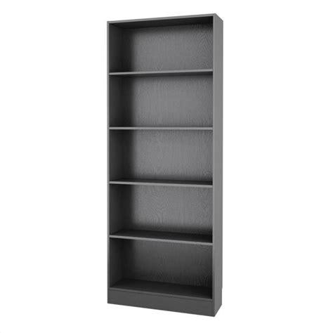 Tall Wide 5 Shelf Bookcase In Black Wood Grain 7177761