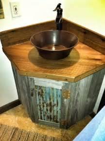 Lowes Vessel Faucets by Barn Wood Vanity Rustic Bathroom San Luis Obispo
