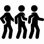 Icon Queue Crowd Stick Line Icons Dancing