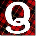Plaid Texture Letters Alphabet Letter Greetings Numbers