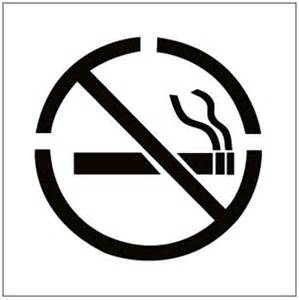 Osha Stands For by No Smoking Floor Stencils
