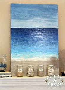 Diy, Abstract, Ocean, Paintings, Anyone, Can, Make