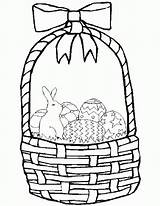 Easter Basket Coloring Printable Baskets Empty Fruit Printables Unique Bingo Dauber Clipart Popular Getcolorings Coloringhome Comments sketch template