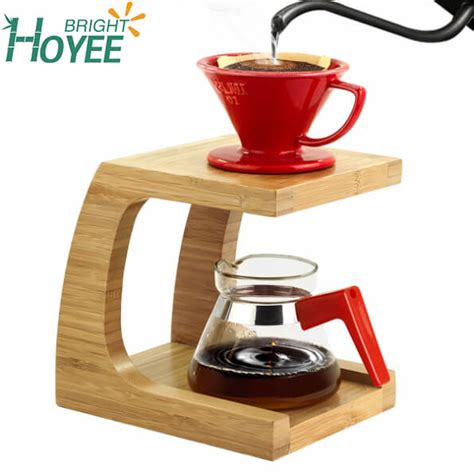 bamboo coffee dripper stand pour  coffee stand pour  drip holder buy bamboo coffee