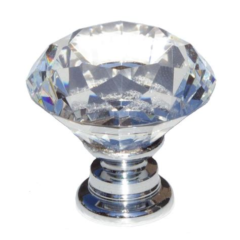 glass knobs for kitchen cabinets gliderite 1 1 8 in dia clear k9 shape 6839