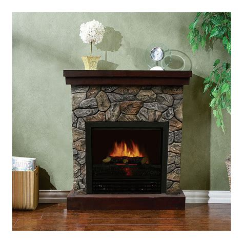 Stonegate Polystone Electric Fireplace With Mantel 5115