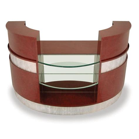 salon reception desk with glass display dl 7916 make a dramatic statement with the veeco dl 7916