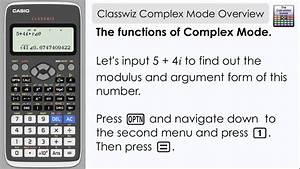 Casio Classwiz Complex Mode
