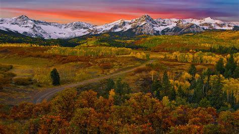 Hd Fall Desktop Wallpapers Sneffels Range Sunrise Wallpapers13 Com
